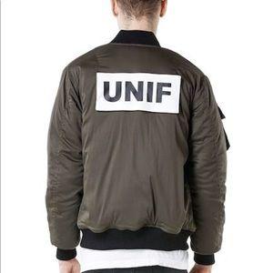 UNIF Unisex Satin Bomber Jacket S